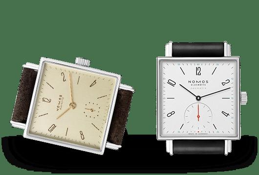 Nomos Glashütte Tetra Uhren bei Juwelier Lorenz in Berlin-Firedenau