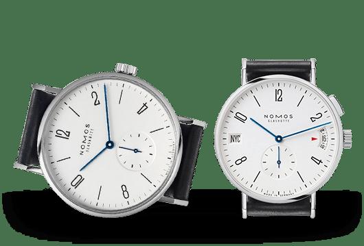 Nomos Glashütte Tangomat Uhren bei Juwelier Lorenz in Berlin-Firedenau