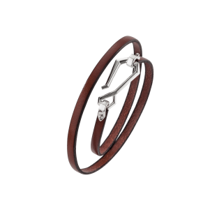 Baldessarini Armband, Y2107B/00/00, Bronze, Leder, braun