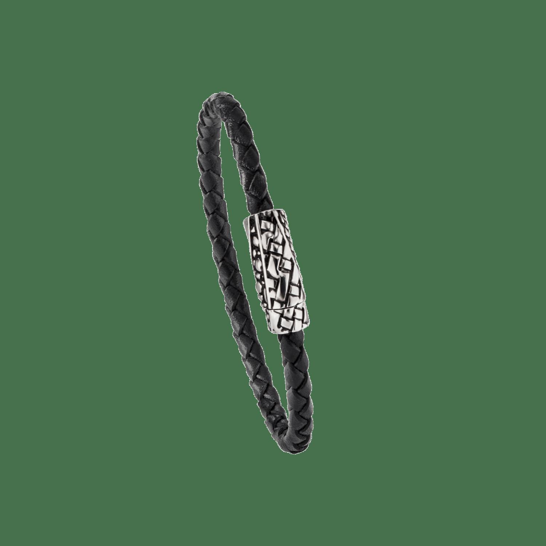 Baldessarini Armband, Y2084B/90/00, Silber, schwarz