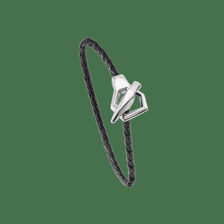 Baldessarini Armband, Y2085B/90/00, Silber, Lederband, schwarz