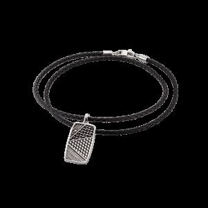 Baldessarini Armband, Y2091N/90/00, Silber, Leder, schwarz