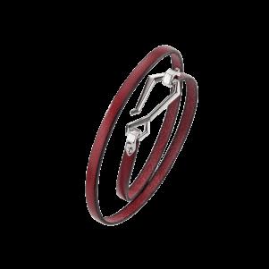 Baldessarini Armband, Y2104B0000, Bronze, Leder, rot