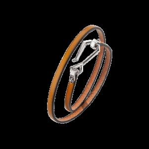 Baldessarini Armband, Y2105B0000, Bronze, Lederband, braun