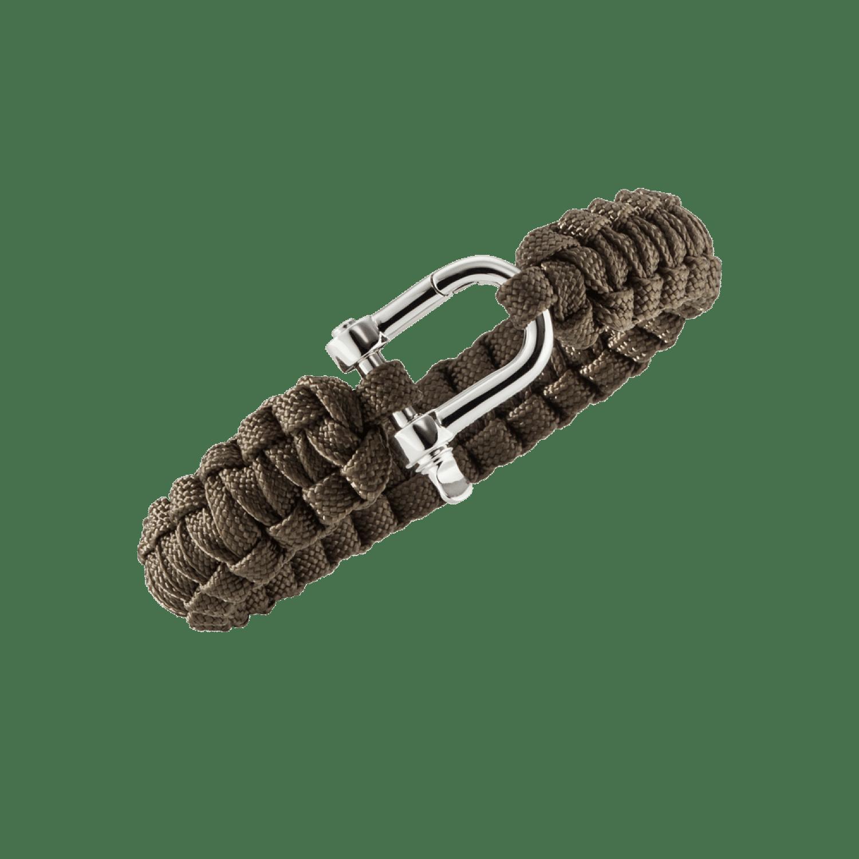 Baldessarini Armband, Y1091B/90/00, Silber, Textil, khaki