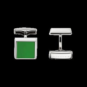 Baldessarini Manschettenknöpfe, Y7052C/20/00, Edelstahl, grün