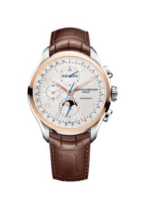 Baume & Mercier, Clifton 10280 Herren Chronograph, M0A10280, Edelstahl