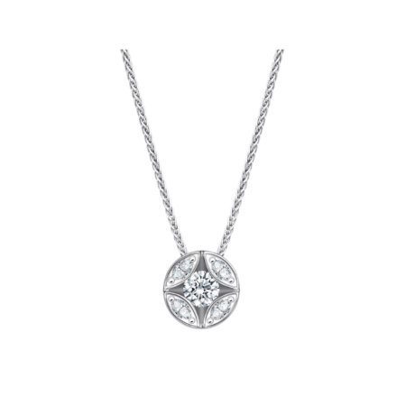 Bellaluce Collier mit Anhänger, EH002789.B403955.1, Weißgold, Brillanten, Diamant