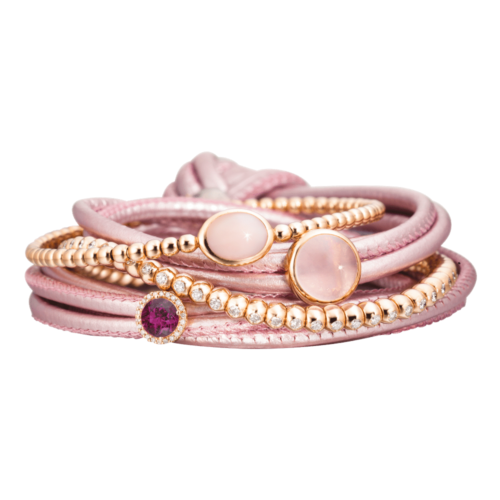 Capolavoro, The Colour Collection, Armbänder Velluto, AB0000108.ROSA-MET.22, AB9OPP00228.INNEN.17, AH9ROK01952, AB9B0000230.INNEN.17, AH9GRP02005