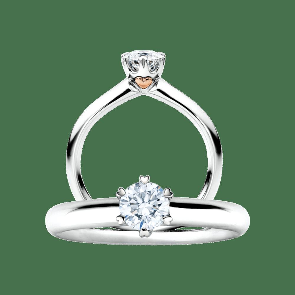 Capolavoro, The Romance Collection, Ring Diamante in Amore, RI8B05070.0.30TW/VS, RI8B05070.0.40TW/VS/GIA