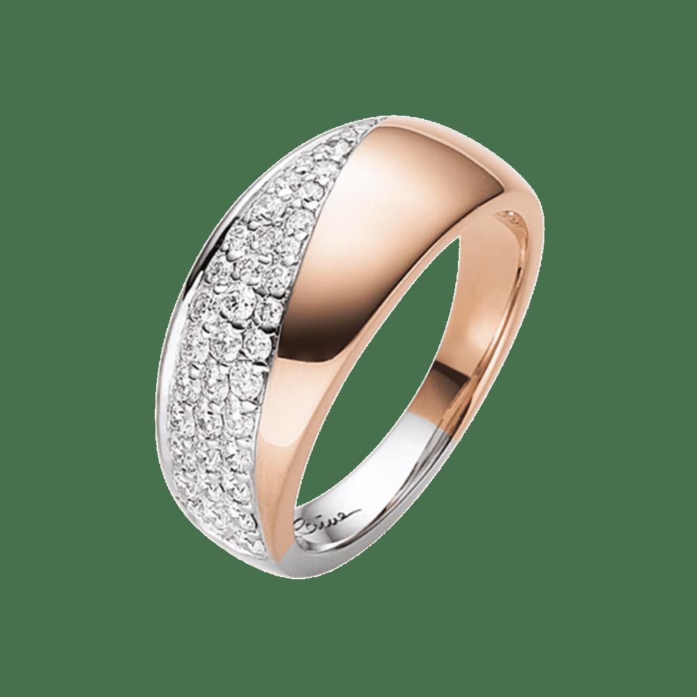 Elaine Firenze, Ring, Roségold, Weißgold, Brillanten