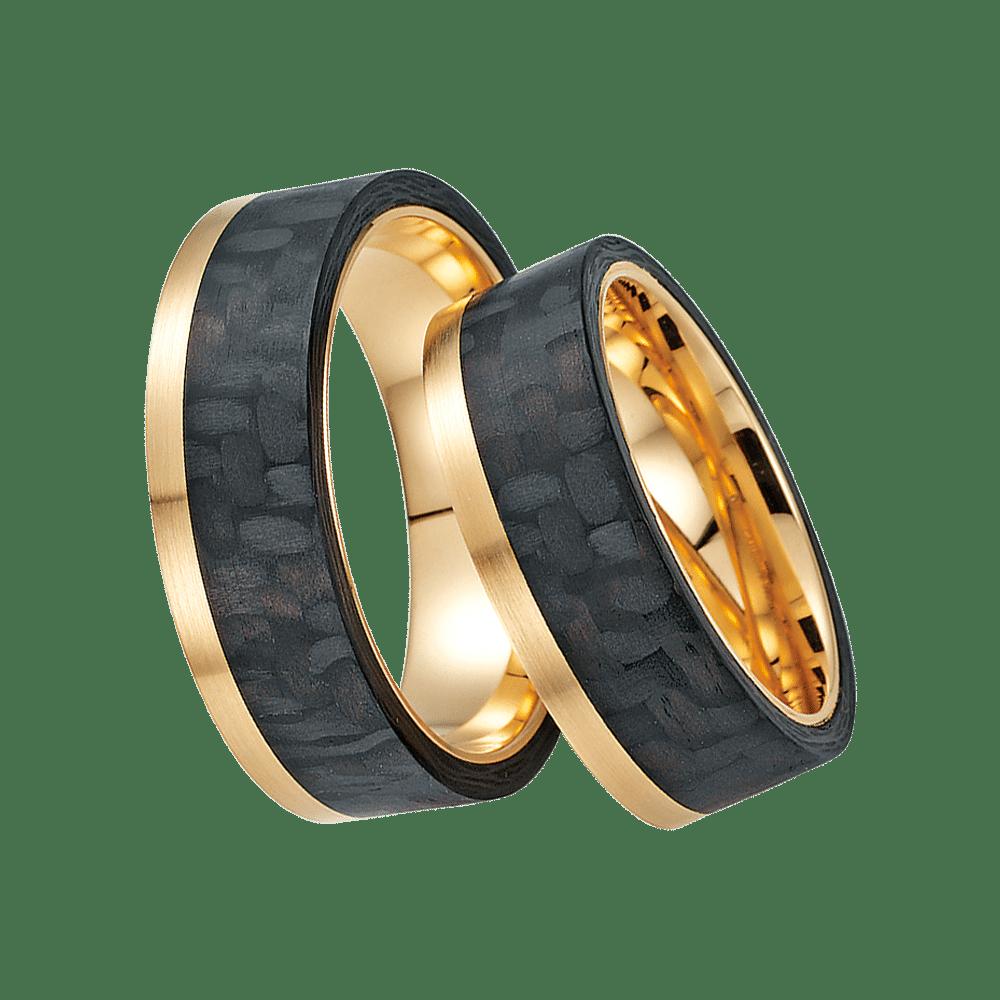 Fischer, Carbon küsst Gold, Trauringe, 23-01000-070