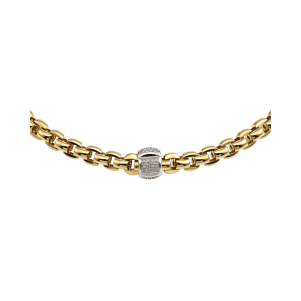 Fope, Eka Collection, Collier, Weißgold, Gelbgold, Diamanten