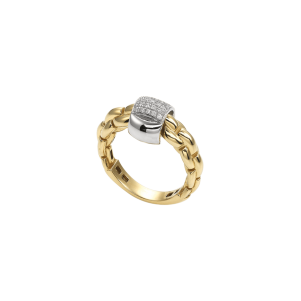 Fope, Eka Collection, Ring, Weißgold, Gelbgold, Diamanten