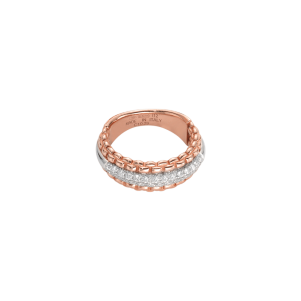Fope Ring, Roségold, Weißgold, Diamanten,