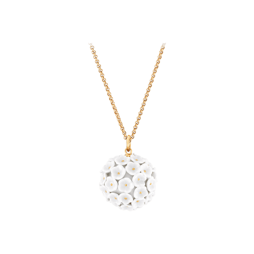 Meissen Couture, Anhänger Schneeballblüte, MPJ20BL00300
