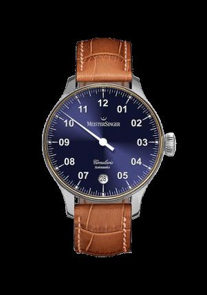 MeisterSinger, Circularis Automatic, Sonnenschliff Blau, CC908LG