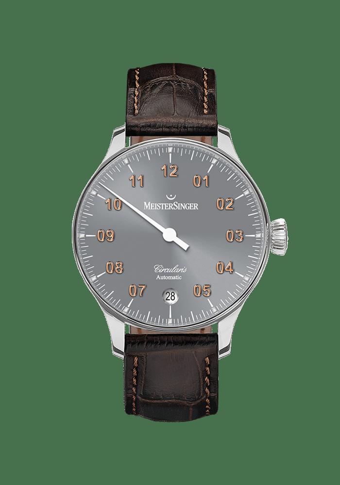MeisterSinger, Circularis Automatic, Sonnenschliff Mittelgrau, CC927G