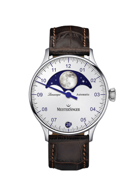 MeisterSinger, Lunascope, Opalin-Silber, LS901