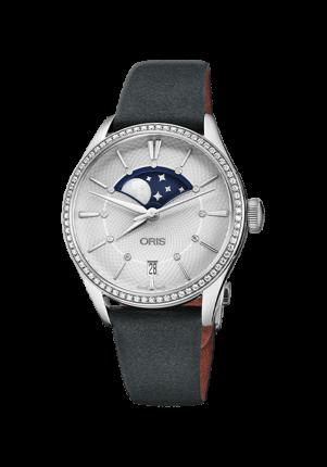 Oris Artelier Grane Lune Date Diamonds, 01 763 7723 4951-07 5 18 34FC