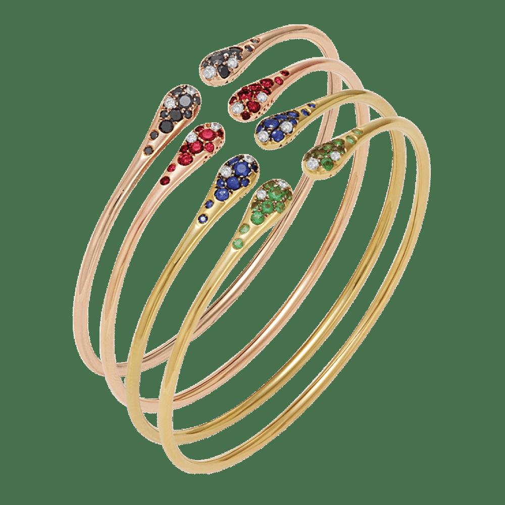Ponte Vecchio, Armreifen, Roségold, Gelbgold, Brillanten, Rubin, Smaragd, Topas