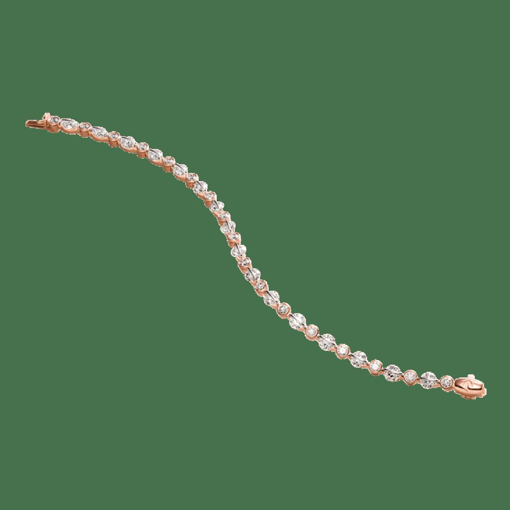 Schaffrath, Armband, Roségold, Weißgold, Brillanten