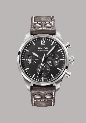 Union Glashütte, Belisar Pilot Chronograph, D0096271605700, Edelstahl