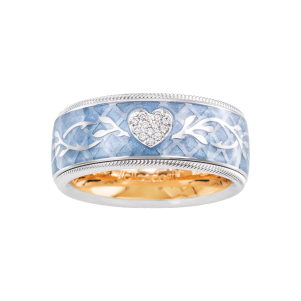 Wellendorff, Ring Brillant-Herz Eisblau, 183