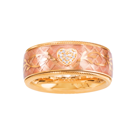 Wellendorff, Ring Brillant-Herz Rosé, 182