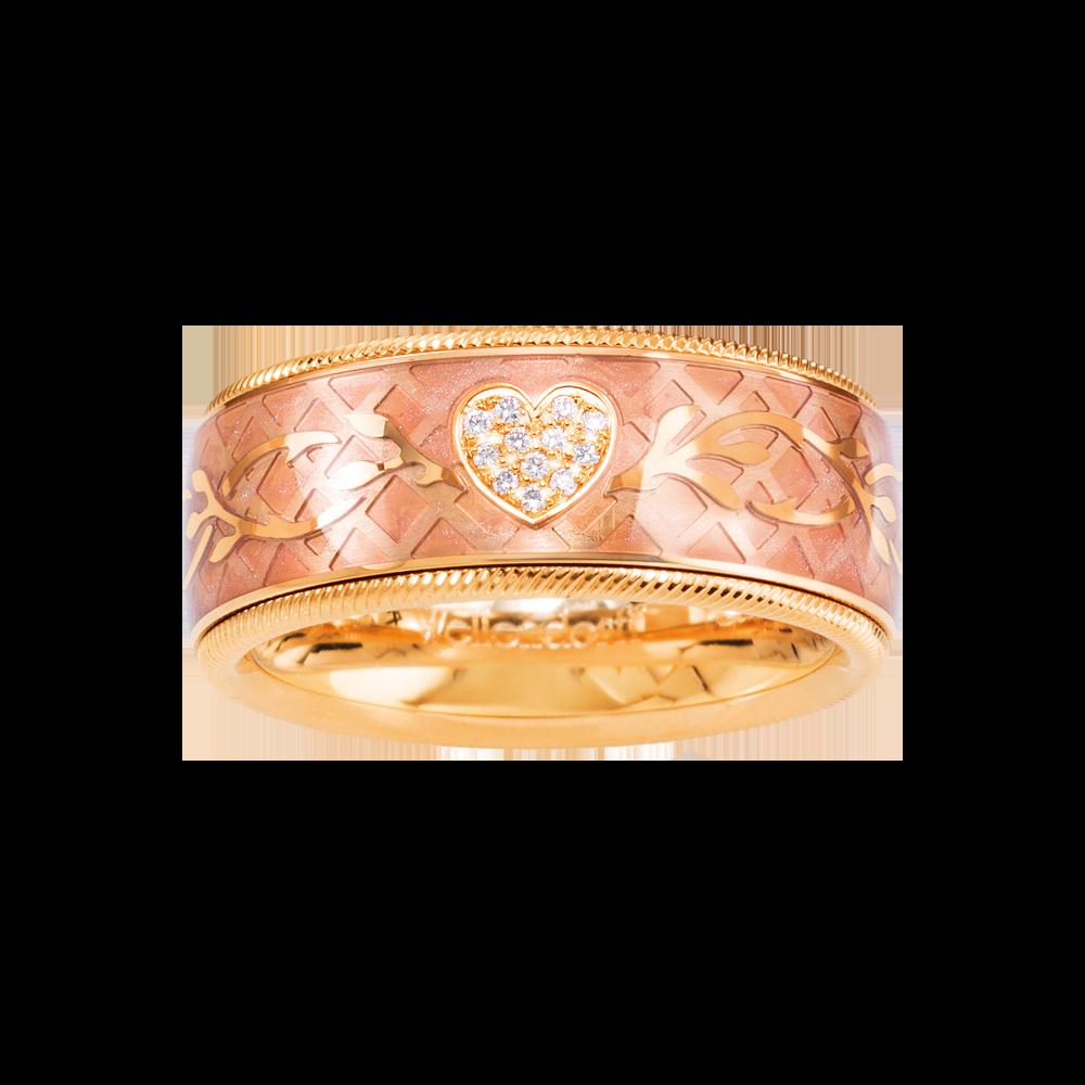 Wellendorff, Ring Brillant-Herz Rosé, 182